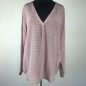 Joie Light Pink Silk Blouse Size Large